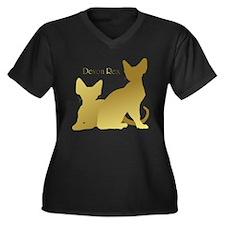 Funny Whimsical art Women's Plus Size V-Neck Dark T-Shirt