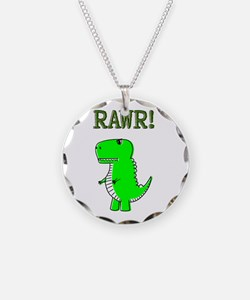 Cute Angry T-Rex RAWR Necklace