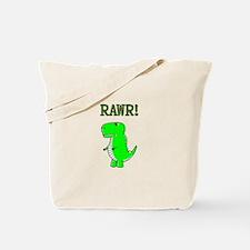 Cute Angry T-Rex RAWR Tote Bag