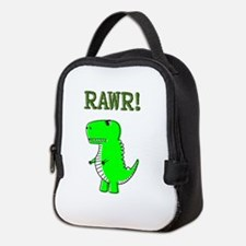 Cute Angry T-Rex RAWR Neoprene Lunch Bag