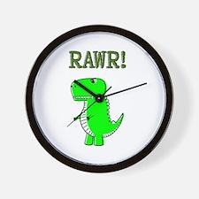 Cute Angry T-Rex RAWR Wall Clock