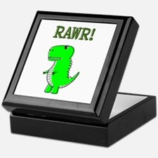 Cute Angry T-Rex RAWR Keepsake Box