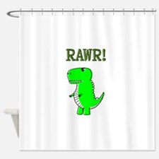 Cute Angry T-Rex RAWR Shower Curtain
