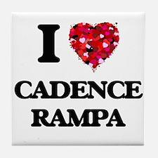 I Love My CADENCE RAMPA Tile Coaster