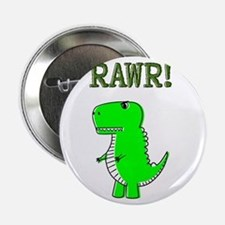 "Cute Angry T-Rex RAWR 2.25"" Button"