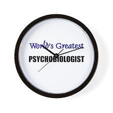 Worlds Greatest PSYCHOBIOLOGIST Wall Clock