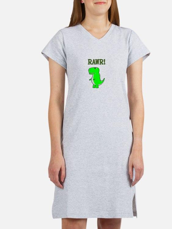 Cute Angry T-Rex RAWR Women's Nightshirt