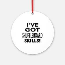 Shuffleboard Skills Designs Round Ornament