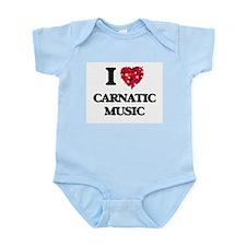 I Love My CARNATIC MUSIC Body Suit