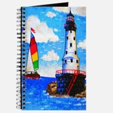 Lighthouse And Sailboat Journal