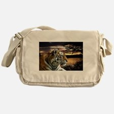 Sunset Tiger Messenger Bag