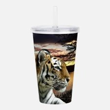 Sunset Tiger Acrylic Double-wall Tumbler