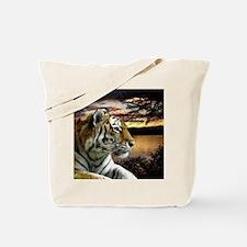 Sunset Tiger Tote Bag