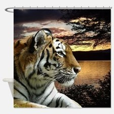 Sunset Tiger Shower Curtain