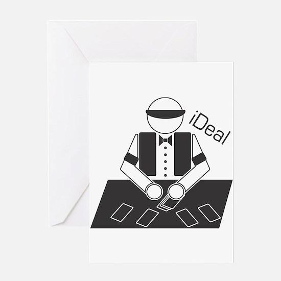 iDeal (Casino Dealer) Greeting Card