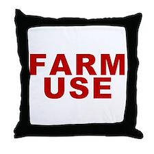 Farm Use Throw Pillow