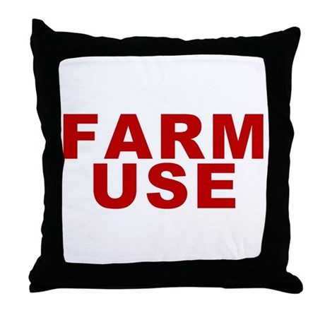 Farm Use Throw Pillow