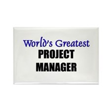 Worlds Greatest PROJECT MANAGER Rectangle Magnet