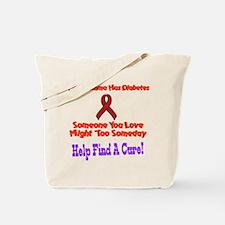 Gramma has diabetes Tote Bag