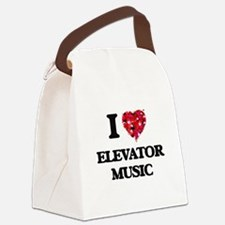 I Love My ELEVATOR MUSIC Canvas Lunch Bag