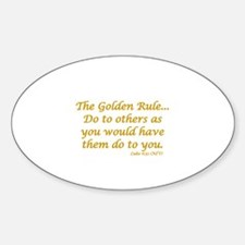 THE GOLDEN RULE Sticker (Oval)