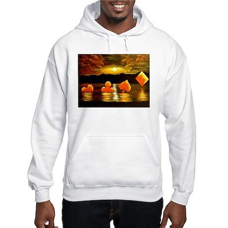Unique Poker Art Rising Suits Hooded Sweatshirt