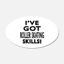 Roller Skating Skills Design Wall Decal
