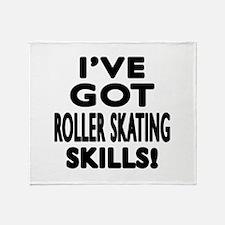Roller Skating Skills Designs Throw Blanket