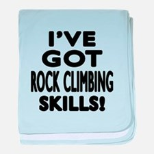Rock Climbing Skills Designs baby blanket