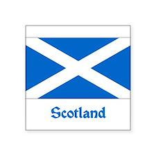 "Cute Flag scotland Square Sticker 3"" x 3"""