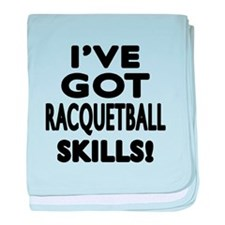 Racquetball Skills Designs baby blanket