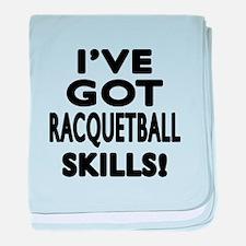 Racquetball Skills Designs baby blanket