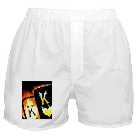 FLAMING POCKET KINGS COWBOYS POKER Boxer Shorts