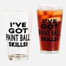 Paint Ball Skills Designs Drinking Glass