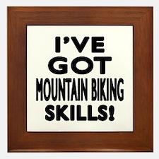 Mountain Biking Skills Designs Framed Tile