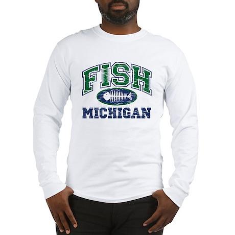 Fish Michigan Long Sleeve T-Shirt