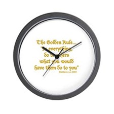 THE GOLDEN RULE - MATTHEW 7:12 Wall Clock