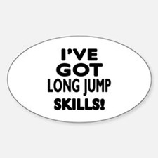Long Jump Skills Designs Decal