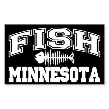 Fish Minnesota Rectangle Sticker