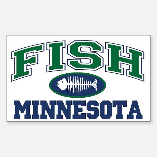 Fish Minnesota Rectangle Decal