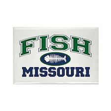 Fish Missouri Rectangle Magnet