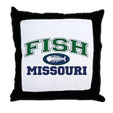Fish Missouri Throw Pillow
