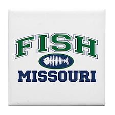 Fish Missouri Tile Coaster