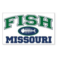 Fish Missouri Rectangle Decal