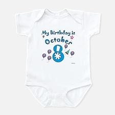 October 8th Birthday Infant Bodysuit