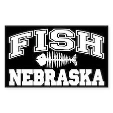 Fish Nebraska Rectangle Decal