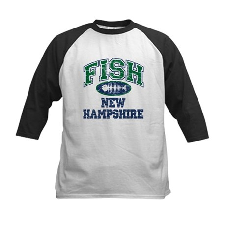 Fish New Hampshire Kids Baseball Jersey