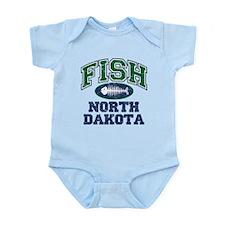 Fish North Dakota Infant Bodysuit