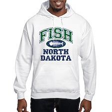 Fish North Dakota Hoodie Sweatshirt