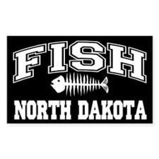Fish North Dakota Rectangle Decal